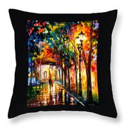 Harmony - Palette Knife Oil Painting On Canvas By Leonid Afremov Throw Pillow
