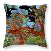Harmony Under The Sea Throw Pillow