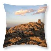 Harney Peak At Dusk Throw Pillow