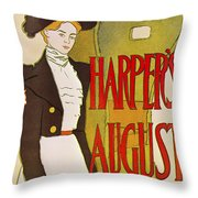Harpers August 1897 Throw Pillow