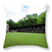 Harpers Ferry Hardware And Railroad Throw Pillow