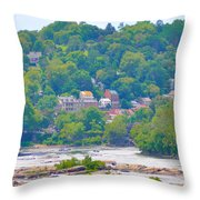 Harpers Ferry View Throw Pillow