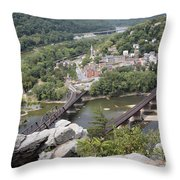 Harpers Ferry Viewed From Maryland Heights Throw Pillow