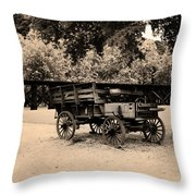 Harpers Ferry Wagon Throw Pillow