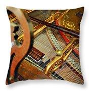 Harpsichord  Throw Pillow