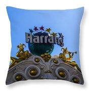 Harrahs Throw Pillow
