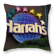 Harrahs Of New Orleans Throw Pillow