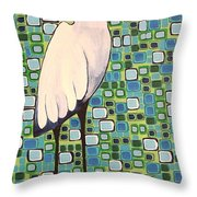 Harried Heron Throw Pillow