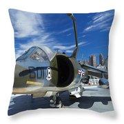 Harrier At Interpid Museum Throw Pillow