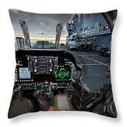 Harrier Cockpit Throw Pillow
