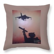 Harrier On Finals Throw Pillow