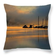 Harris Riverfront Park Throw Pillow