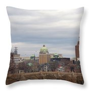 Harrisburg City Throw Pillow
