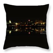 Harrisburg Night Lights Throw Pillow