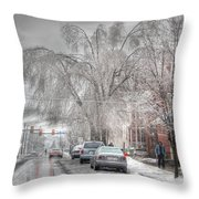 Harrisburg On Ice Throw Pillow