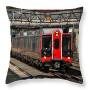 Harrison Station Express Throw Pillow
