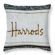 Harrods Throw Pillow