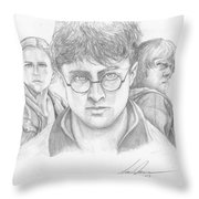 Harry And Friends Throw Pillow