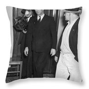 Harry Bridges Signs Pact Throw Pillow