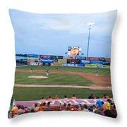Harry Grove Stadium Frederick Keys Throw Pillow