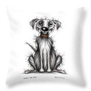 Harry The Dog Throw Pillow