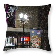 Hart In The Snow - Grants Pass Throw Pillow