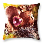 Hart Melting In Color Snow Throw Pillow