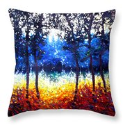 Hart Of The Magic Forest Throw Pillow