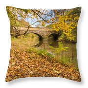 Hartford Bridge In Autumn Throw Pillow
