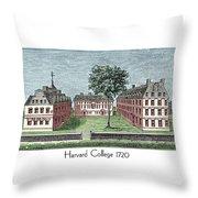 Harvard College - 1720 Throw Pillow