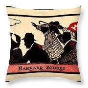 Harvard Scores 1905 Throw Pillow