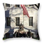 Harvard Statue Throw Pillow