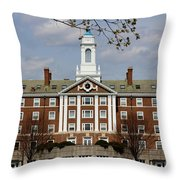 Harvard University Moors Hall Throw Pillow
