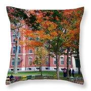 Harvard Yard Fall Colors Throw Pillow