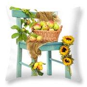 Harvest Fayre Throw Pillow by Amanda Elwell
