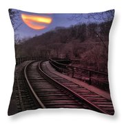Harvest Moon Throw Pillow by Bill Cannon