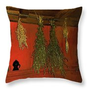 Harvest Of Herbs Throw Pillow