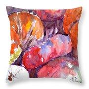 Harvest Pumpkins Throw Pillow