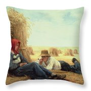 Harvest Time Throw Pillow by Julien Dupre