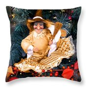 Harvest Witch Throw Pillow