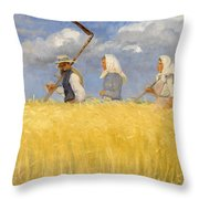 Harvesters Throw Pillow