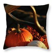Harvesting For Thanksgiving Throw Pillow