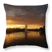 Harveston Lake Sunset Throw Pillow