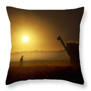 Harvests End Throw Pillow