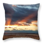 Harvey Beach Sunset Throw Pillow
