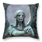 Haserot Weeping Angel Throw Pillow