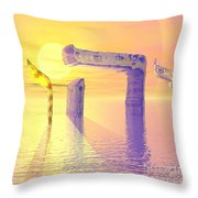 Face Of God Hovering Above The Waters Throw Pillow