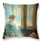 Hassam's The New York Window Throw Pillow