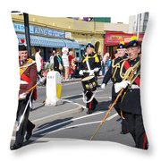 Hastings Old Town Carnival Throw Pillow