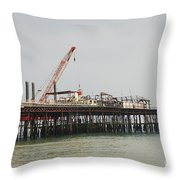 Hastings Pier Reconstruction Throw Pillow